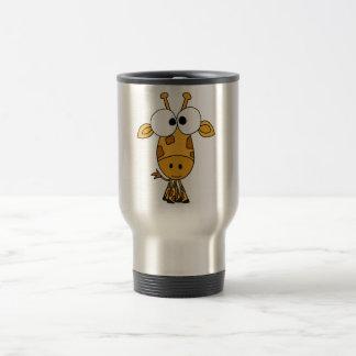 XX- Funny Giraffe Cartoon Travel Mug