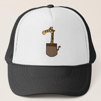 XX- Funny Giraffe in a Pocket Trucker Hat