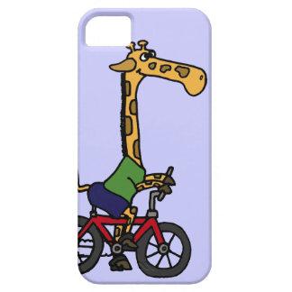 XX- Funny Giraffe Riding Bicycle Cartoon iPhone 5 Cases