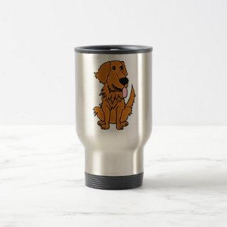 XX- Funny Golden Retriever Dog Cartoon 15 Oz Stainless Steel Travel Mug