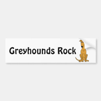 XX- Funny Greyhound Dog Cartoon Bumper Sticker