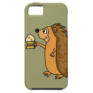 XX- Funny Hedgehog Rasing a Pint iPhone SE/5/5s Case