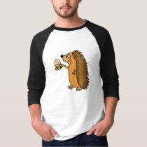 XX- Funny Hedgehog Rasing a Pint T-Shirt