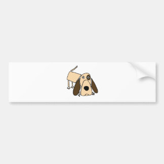 XX- Funny Hound dog Art Car Bumper Sticker