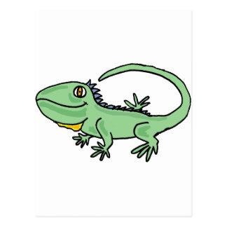 XX- Funny Iguana Cartoon Postcard