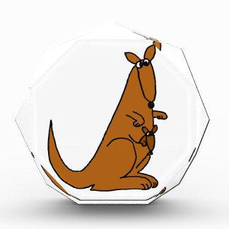 XX- Funny Kangaroo and Baby Acrylic Award