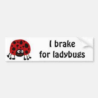 XX- Funny Ladybug Primitive Art Car Bumper Sticker