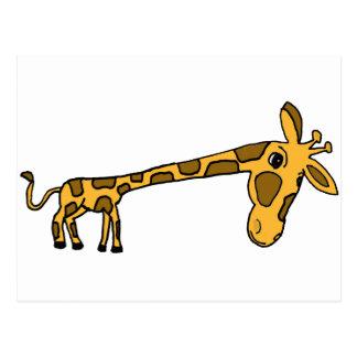 XX- Funny Leaning Giraffe Post Card
