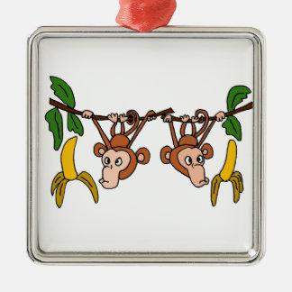 XX- Funny Monkeys in Tree Christmas Tree Ornament