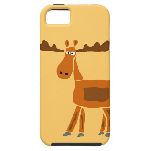 XX- Funny Moose Art Design iPhone SE/5/5s Case