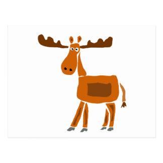 XX- Funny Moose Art Design Post Card