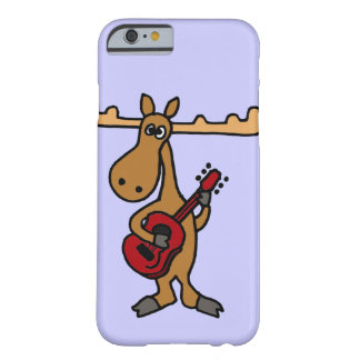 XX- Funny Moose Playing Guitar Cartoon Barely There iPhone 6 Case