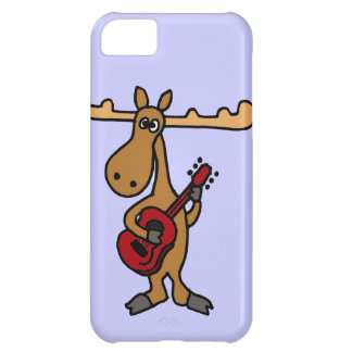 XX- Funny Moose Playing Guitar Cartoon iPhone 5C Cover