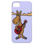 XX- Funny Moose Playing Guitar Cartoon iPhone SE/5/5s Case