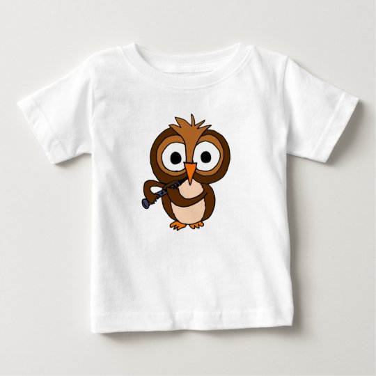 XX- Funny Owl Playing the Clarinet Baby T-Shirt
