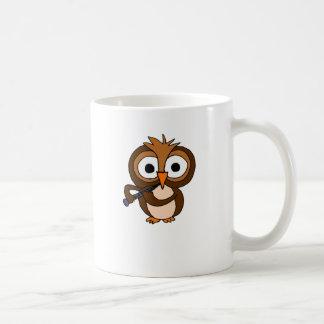 XX- Funny Owl Playing the Clarinet Coffee Mug