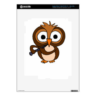 XX- Funny Owl Playing the Clarinet iPad 3 Decal