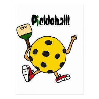 XX- Funny Pickleball Character Postcard