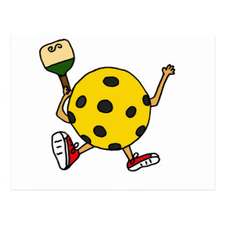 XX- Funny Pickleball Character Postcard