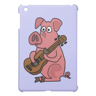 XX- Funny Pig Playing Guitar Cartoon iPad Mini Cover