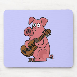 XX- Funny Pig Playing Guitar Cartoon Mouse Pad