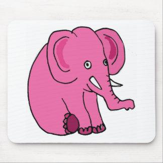 XX- Funny Pink Elephant Mousepad