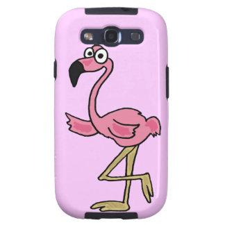 XX- Funny Pink Flamingo Cartoon Galaxy SIII Covers