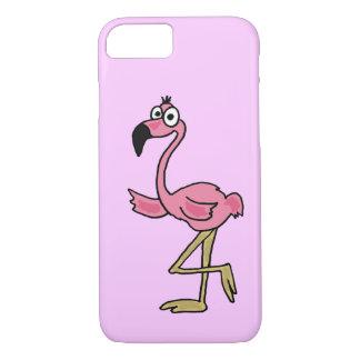 XX- Funny Pink Flamingo Cartoon iPhone 8/7 Case
