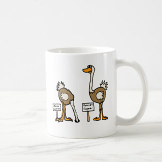 XX- Funny Political Ostriches Cartoon Classic White Coffee Mug