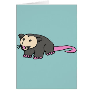 XX- Funny Possum Card