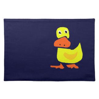 XX- Funny Primitive Art Duck Placemat