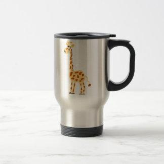 XX- Funny Primitive Art Giraffe Travel Mug