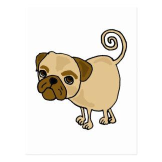 XX- Funny Pug Puppy Dog Cartoon Post Cards