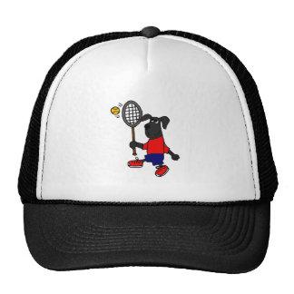 XX- Funny Puppy Dog Playing Tennis Mesh Hat