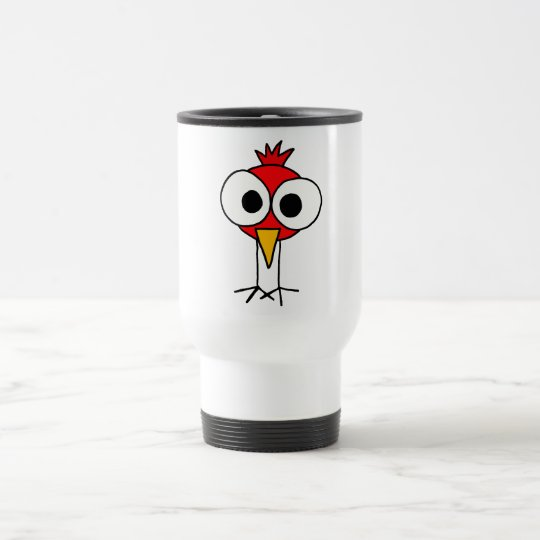 XX- Funny Redbird Cartoon Travel Mug