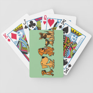 XX- Funny Rescue Dogs Group Cartoon Bicycle Playing Cards