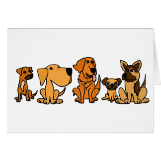 XX- Funny Rescue Dogs Group Cartoon Cards