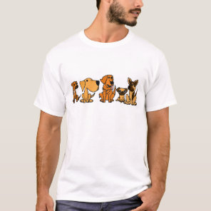 XX- Funny Rescue Dogs Group Cartoon T-Shirt