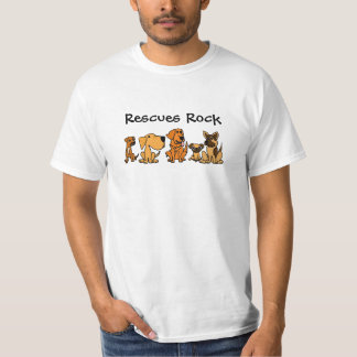 XX- Funny Rescue Dogs Group Cartoon Tee Shirt