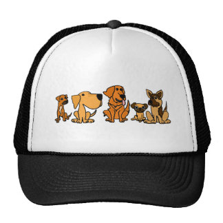 XX- Funny Rescue Dogs Group Cartoon Trucker Hat