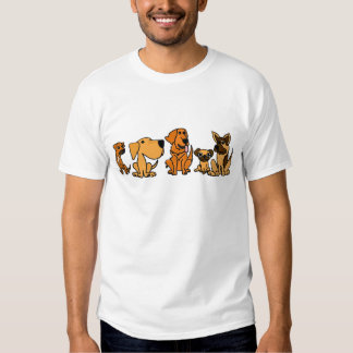 XX- Funny Rescue Dogs Group Cartoon Tshirt