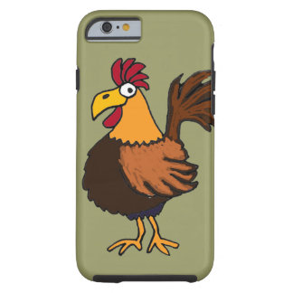 XX- Funny Rooster Cartoon Tough iPhone 6 Case
