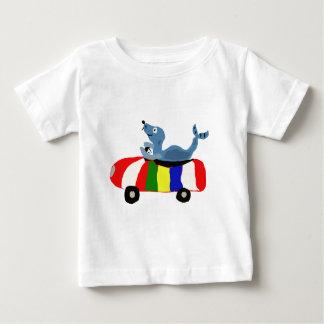 XX- Funny Seal Driving Beach Ball Car Baby T-Shirt