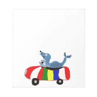 XX- Funny Seal Driving Beach Ball Car Notepads