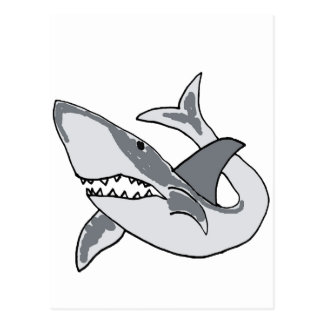 XX- Funny Shark Cartoon Postcard