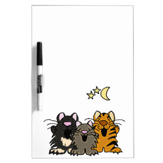 XX- Funny Singing Cats Cartoon Dry Erase Board