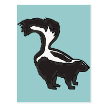 XX- Funny Skunk Postcard