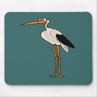 XX- Funny Stork Cartoon Mouse Pads