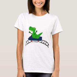 XX- Funny T-rex Dinosaur on Roller Coaster Art T-Shirt