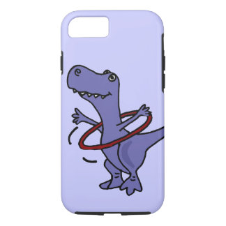 XX- Funny T-rex Dinosaur Using Hula Hoop iPhone 8/7 Case